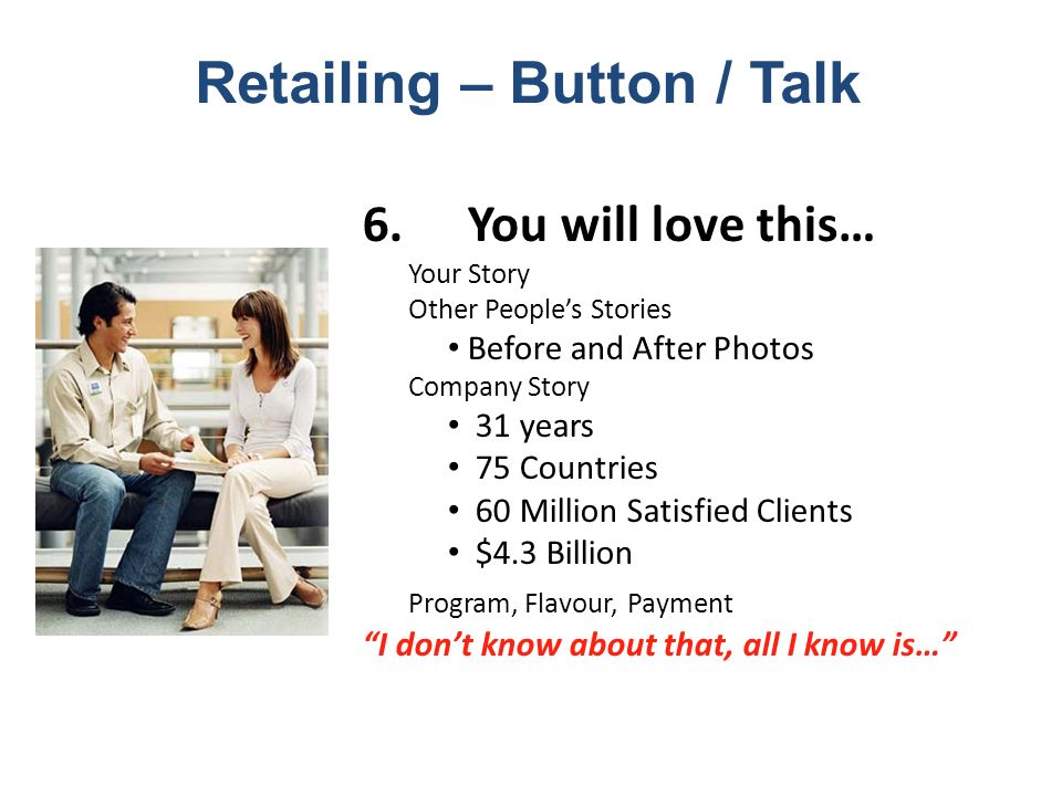 Retailing – Button / Talk