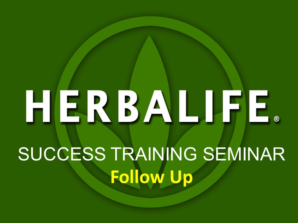 SUCCESS TRAINING SEMINAR