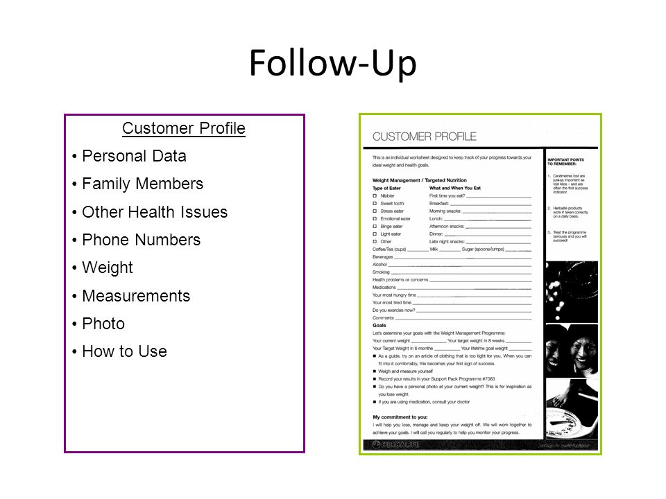 Follow-Up Customer Profile Personal Data Family Members