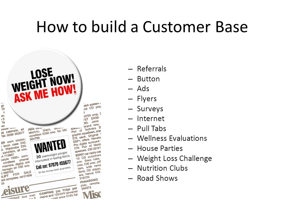 How to build a Customer Base