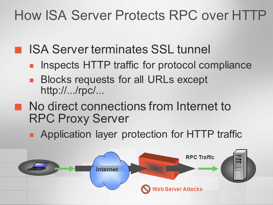 How ISA Server Protects RPC over HTTP