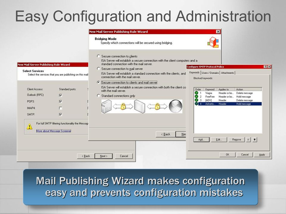 Easy Configuration and Administration