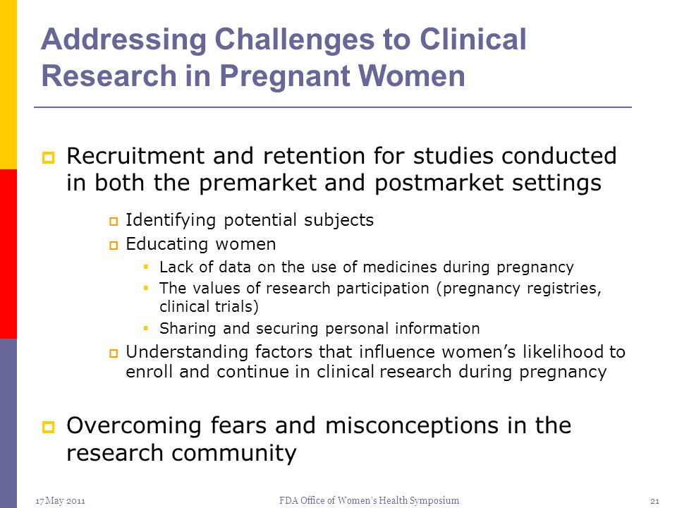 Addressing Challenges to Clinical Research in Pregnant Women