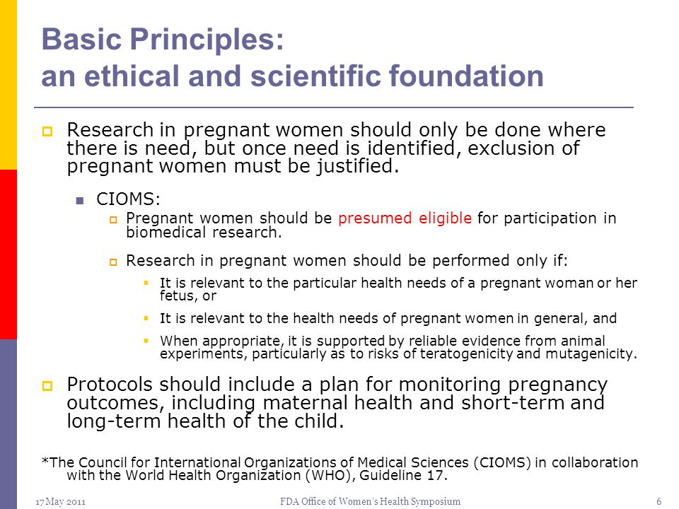 Basic Principles: an ethical and scientific foundation