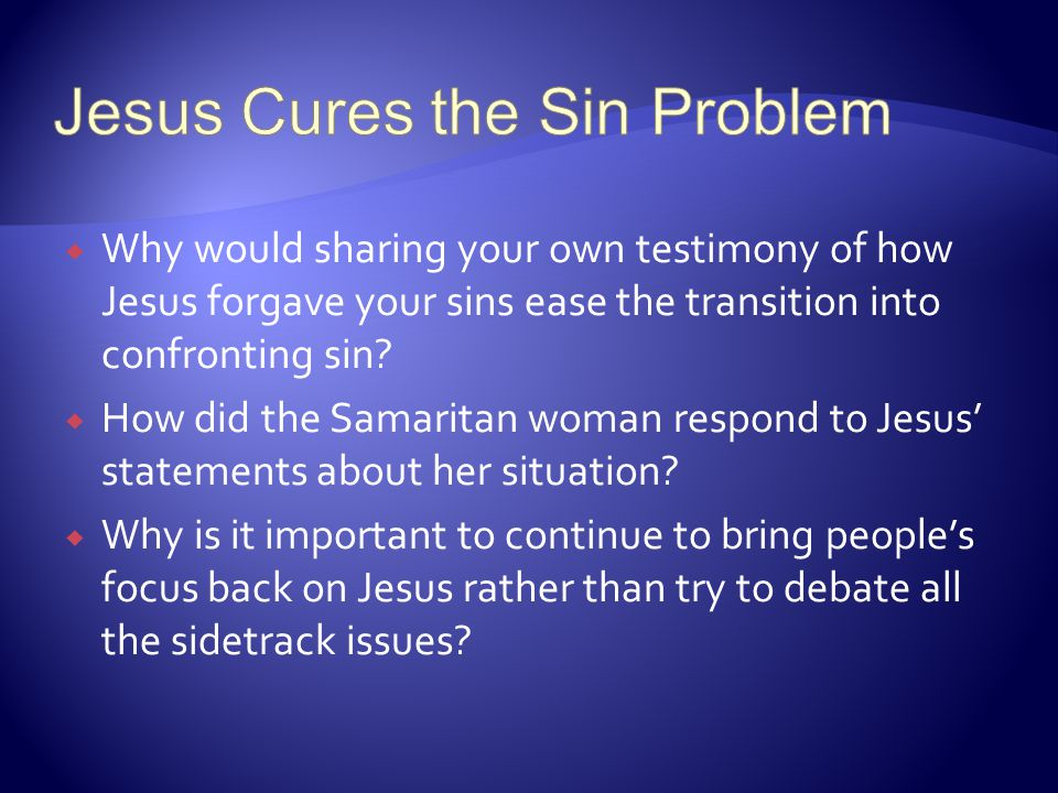 Jesus Cures the Sin Problem