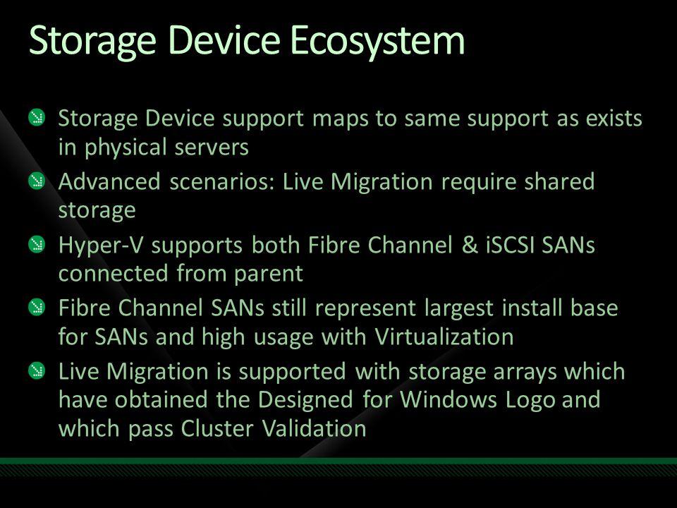 Storage Device Ecosystem
