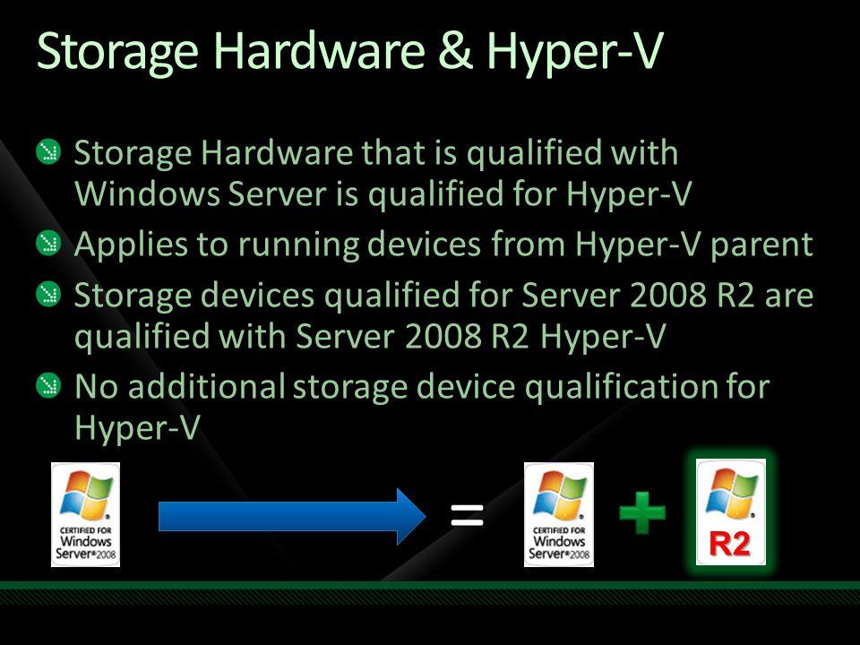Storage Hardware & Hyper-V