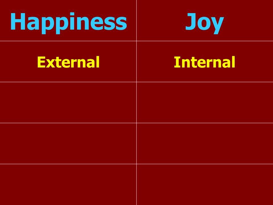 Happiness Joy External Internal