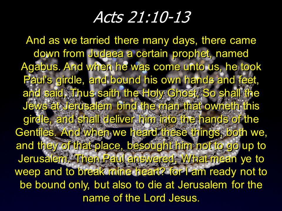 Acts 21:10-13