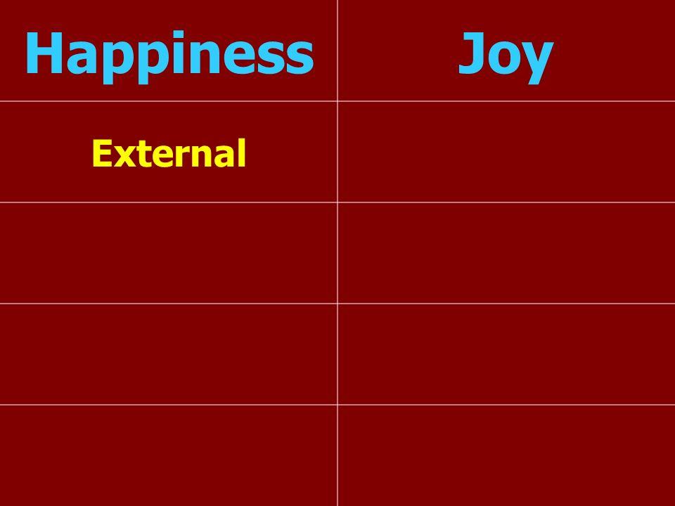 Happiness Joy External