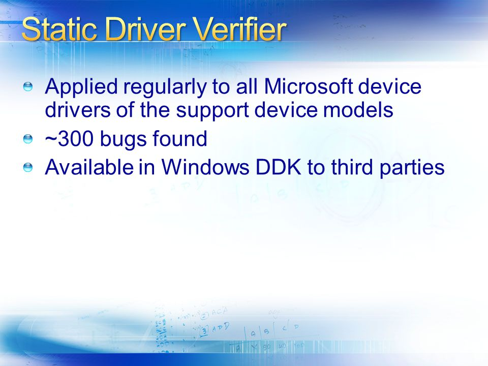 Static Driver Verifier
