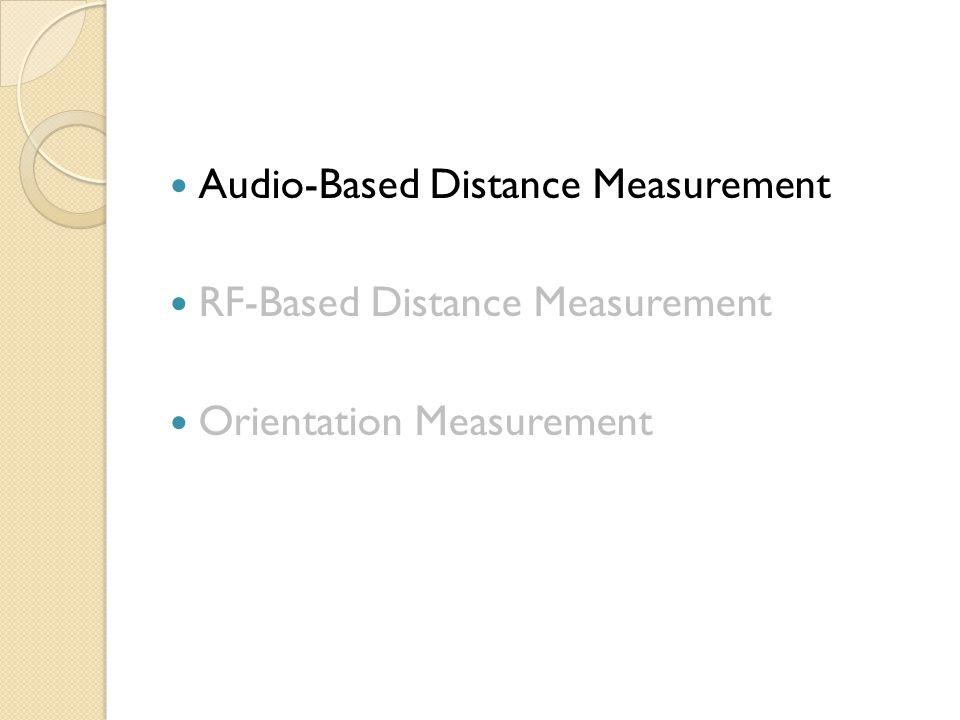 Audio-Based Distance Measurement