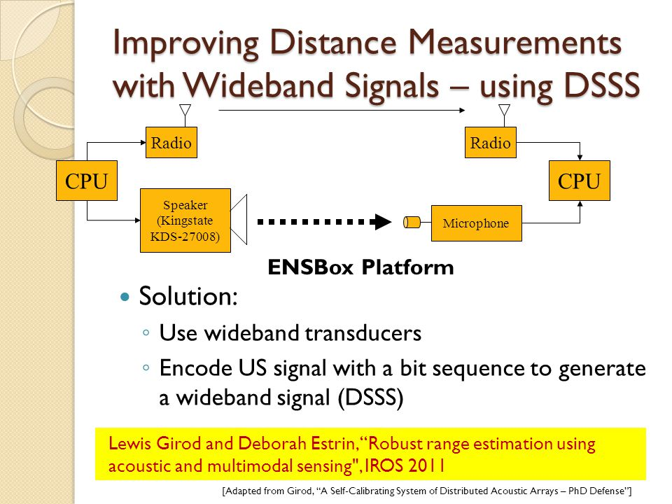 Improving Distance Measurements with Wideband Signals – using DSSS
