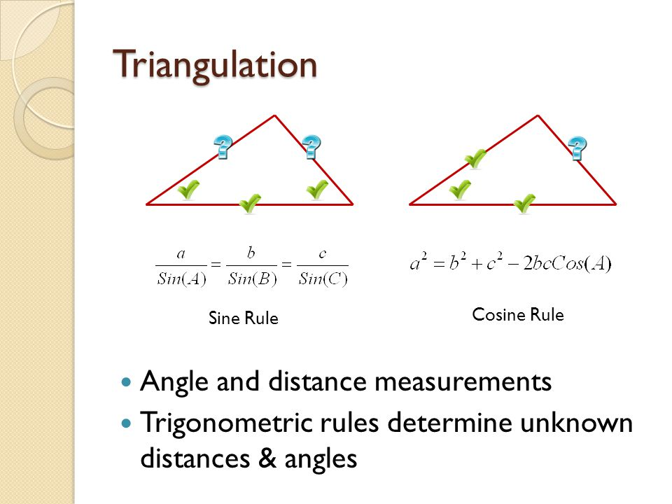 Triangulation Angle and distance measurements