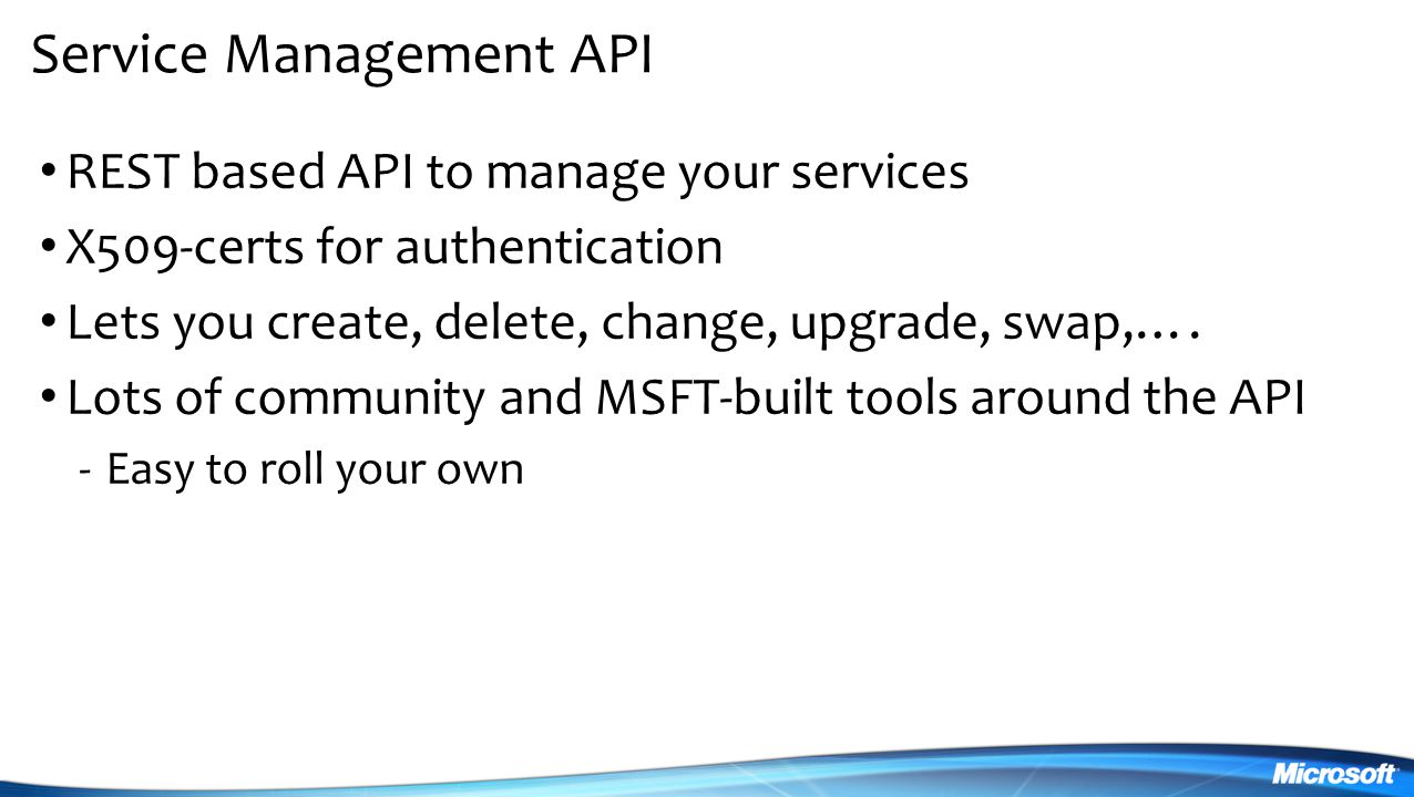 Service Management API