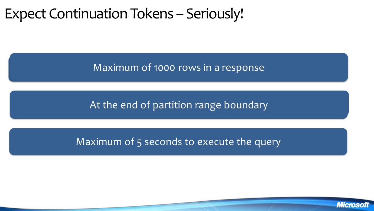 Expect Continuation Tokens – Seriously!
