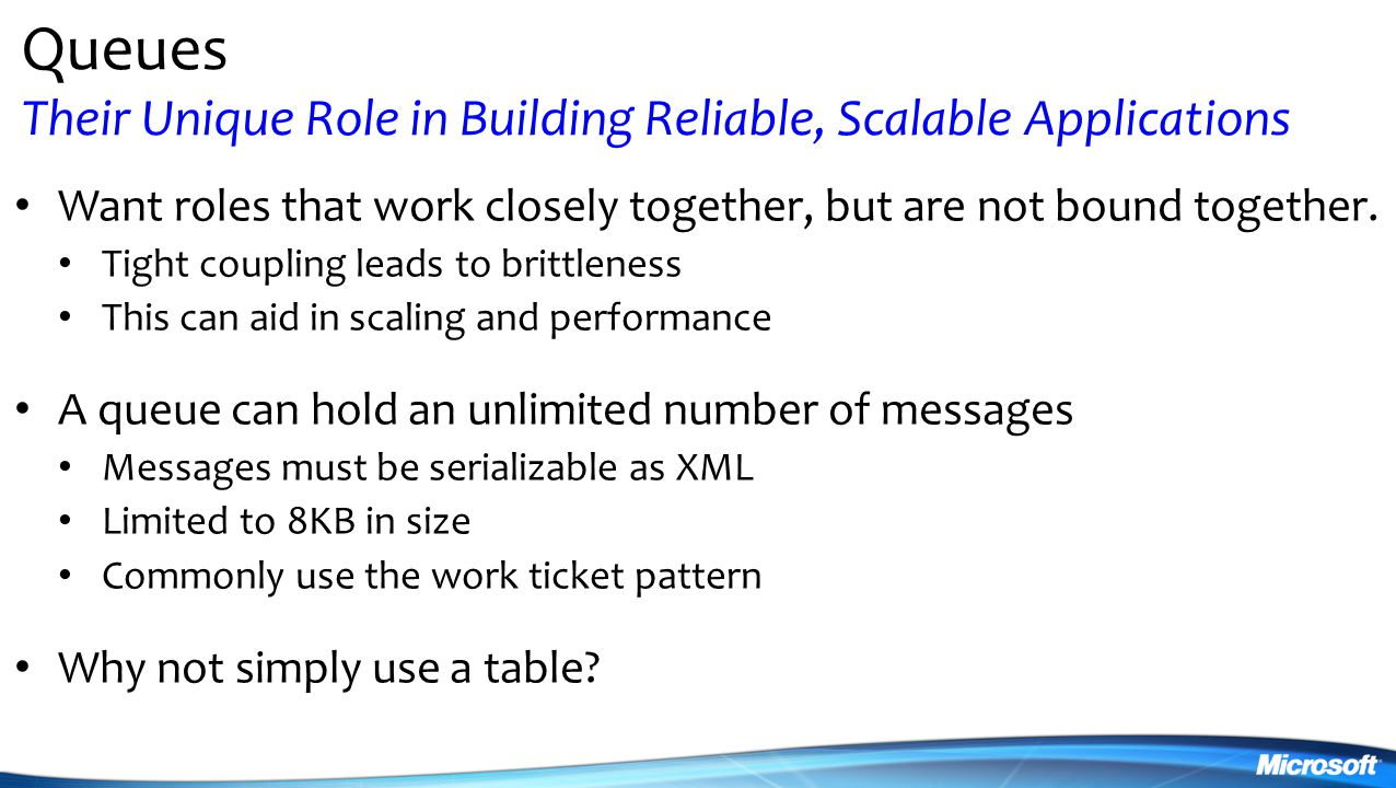 Queues Their Unique Role in Building Reliable, Scalable Applications