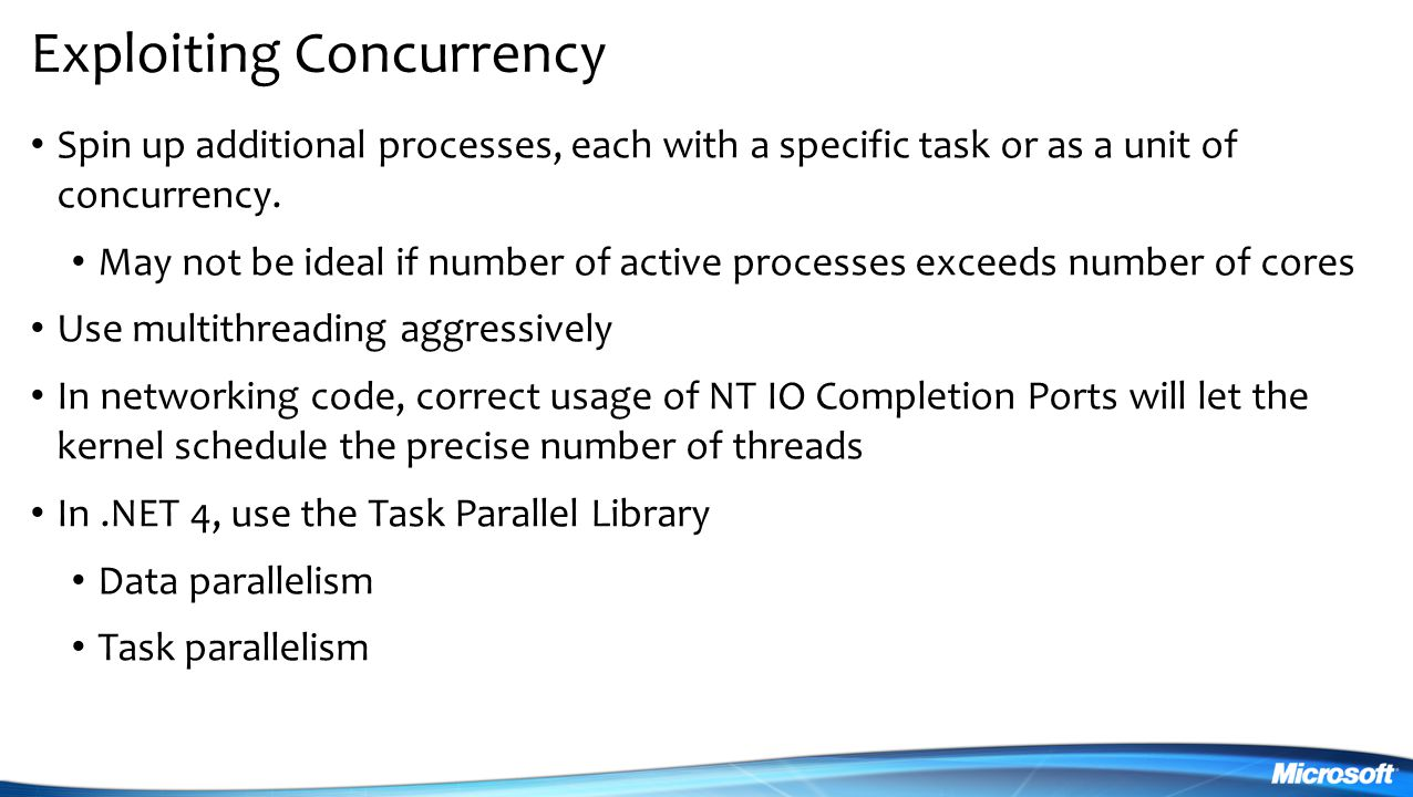 Exploiting Concurrency
