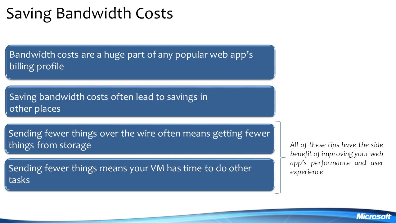 Saving Bandwidth Costs