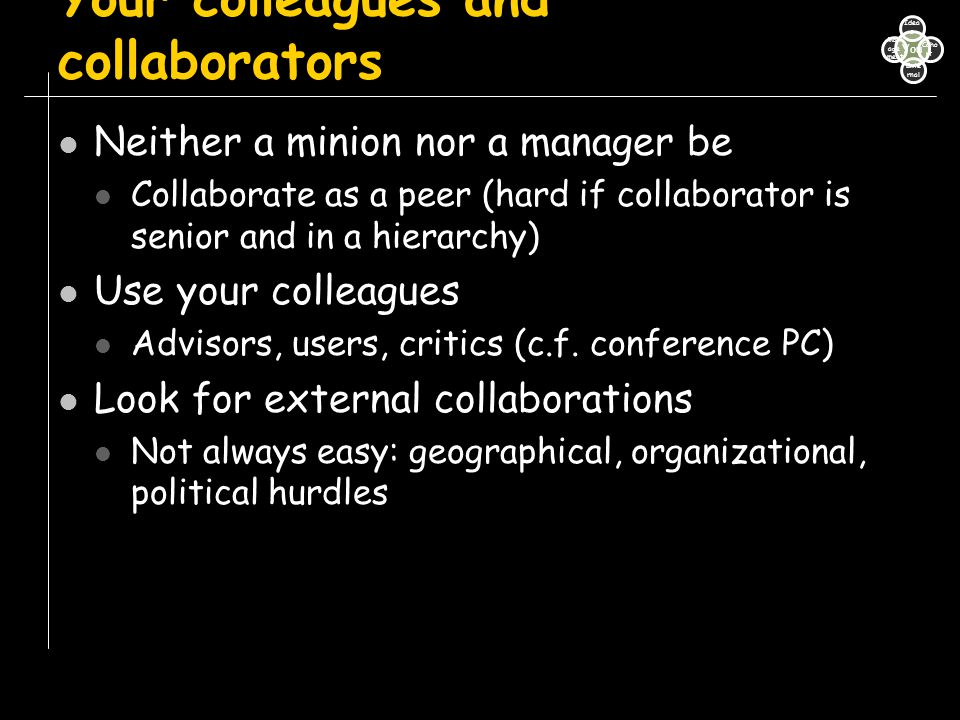 Your colleagues and collaborators