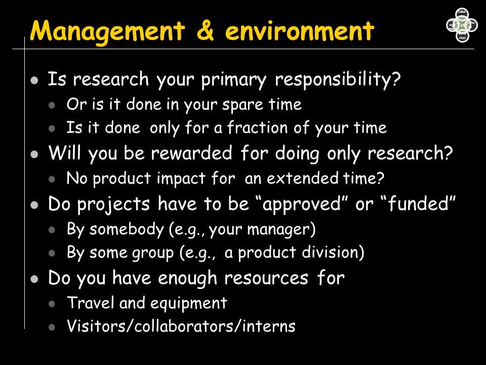 Management & environment
