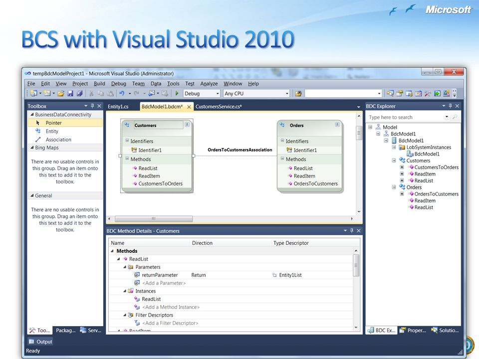 BCS with Visual Studio 2010
