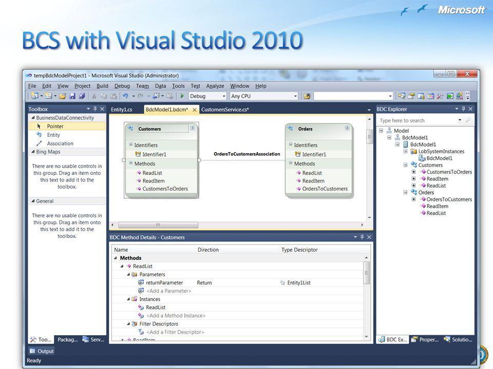 BCS with Visual Studio 2010