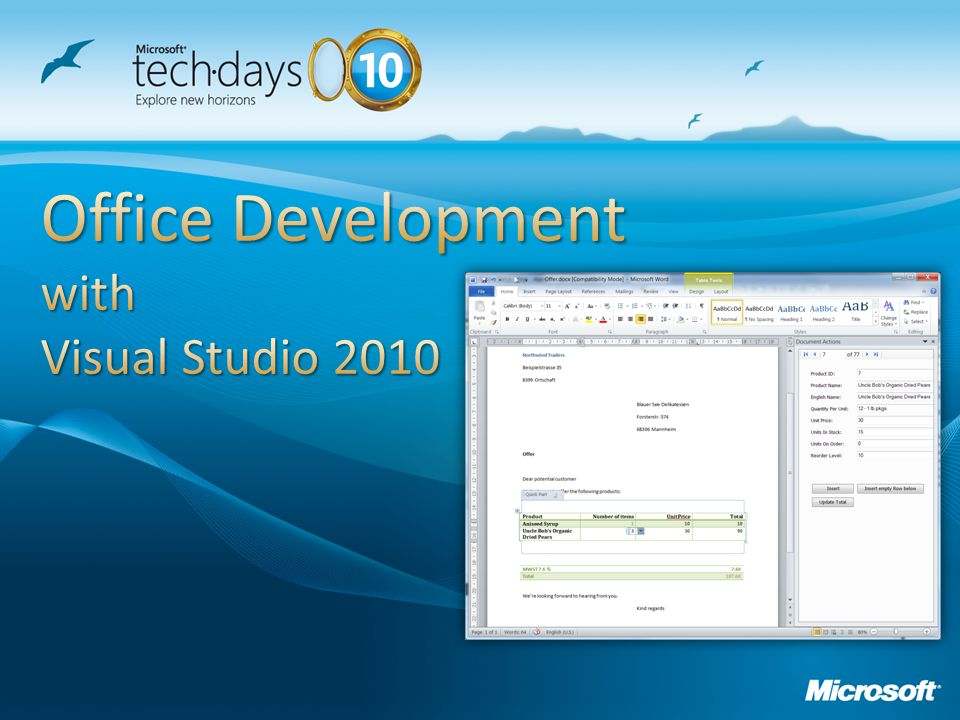 Office Development with Visual Studio 2010