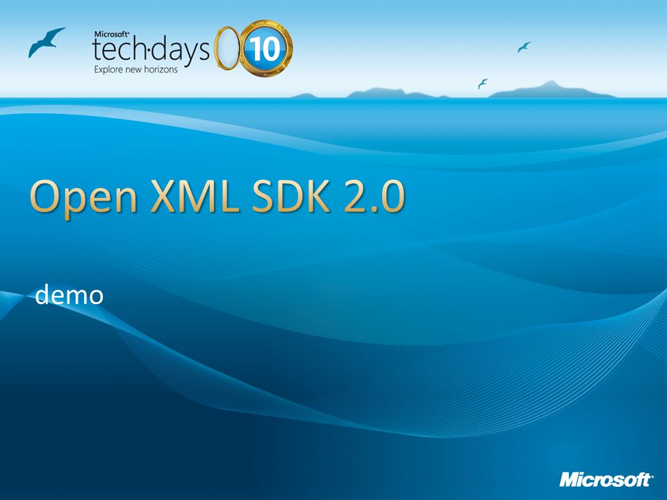 Open XML SDK 2.0 demo