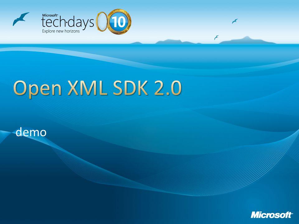 Open XML SDK 2.0 demo