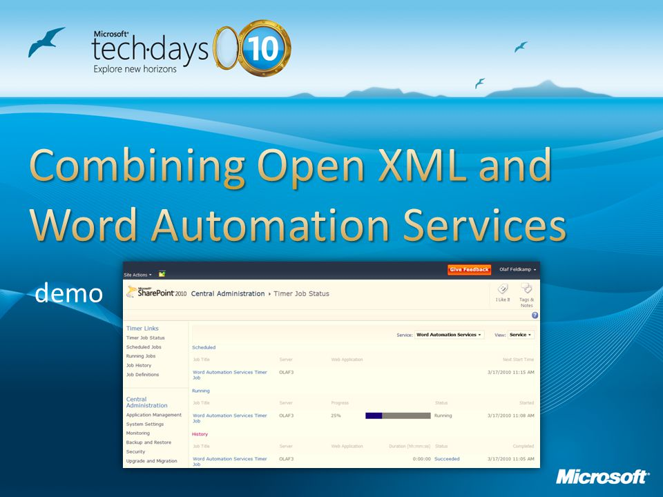 Combining Open XML and Word Automation Services