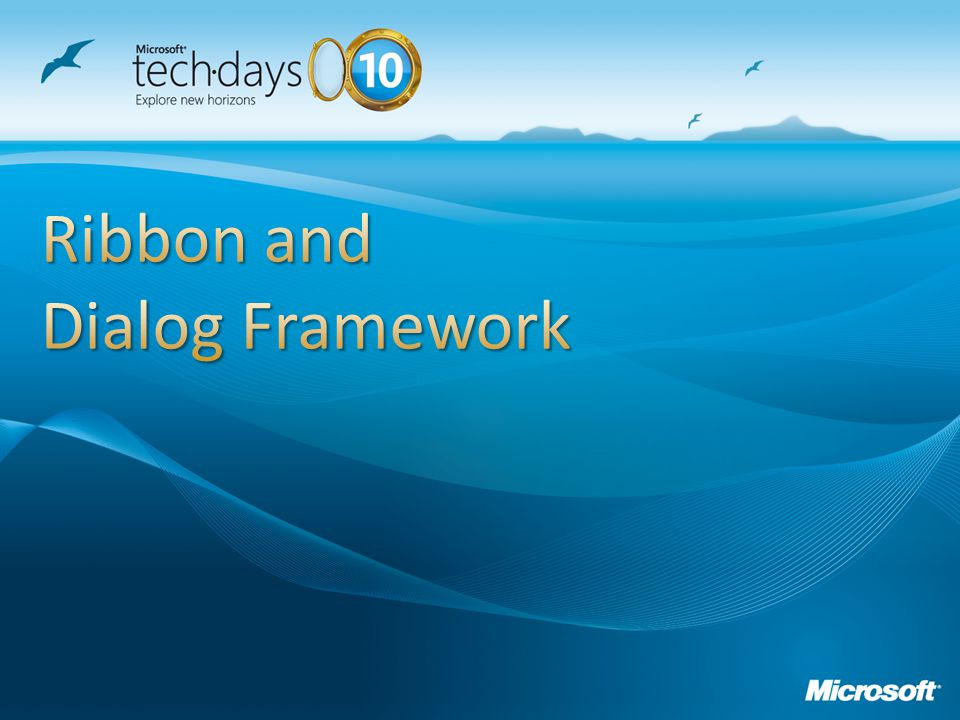 Ribbon and Dialog Framework
