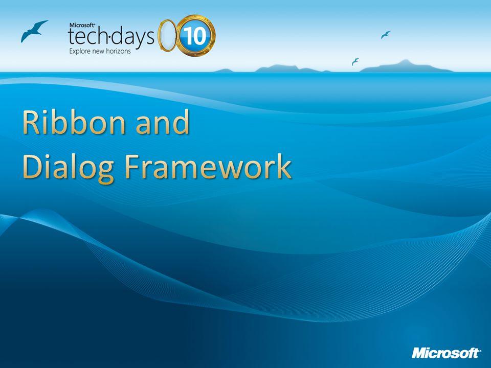 Ribbon and Dialog Framework