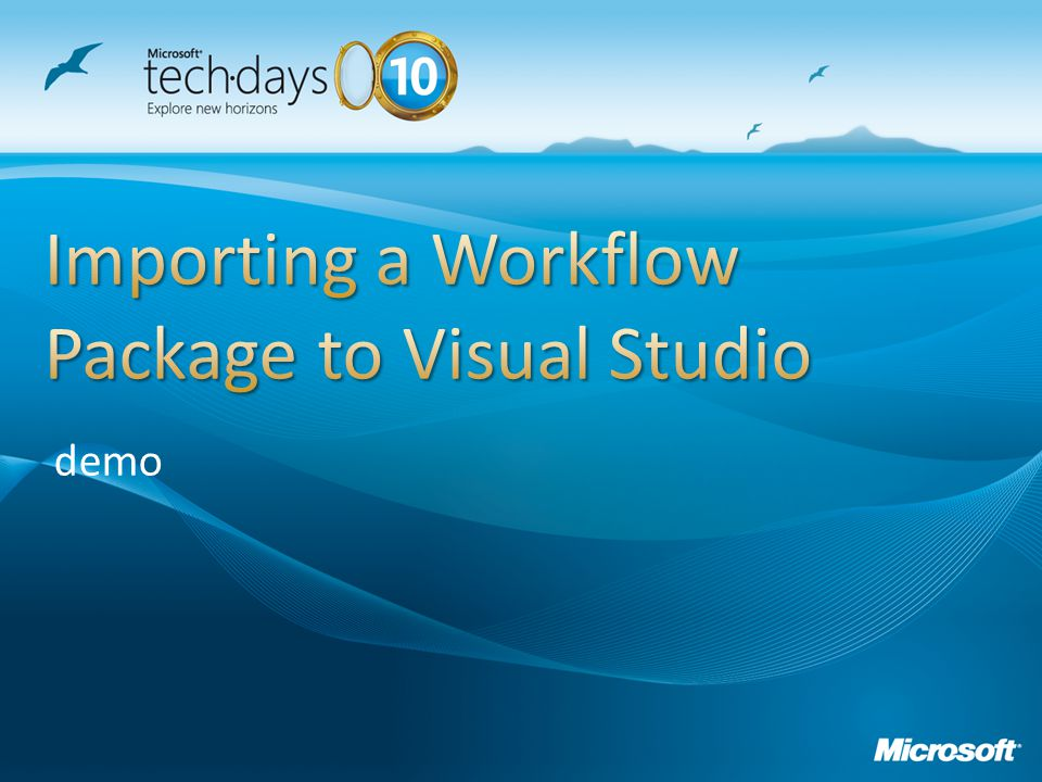 Importing a Workflow Package to Visual Studio