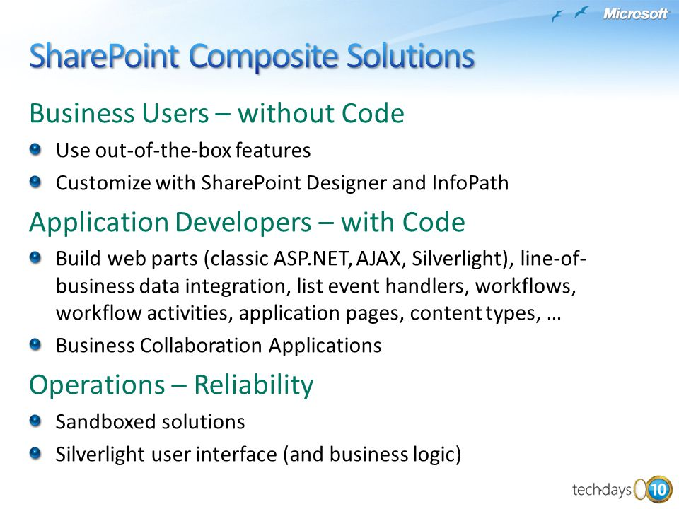 SharePoint Composite Solutions