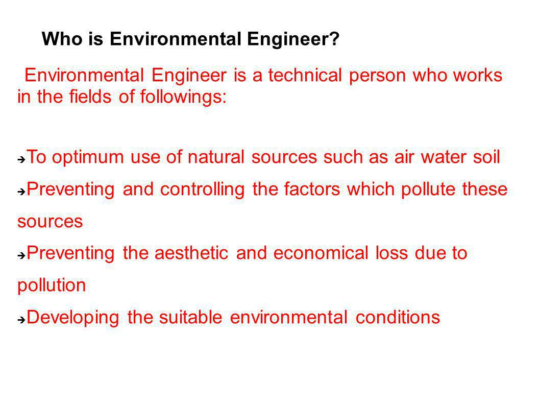 Who is Environmental Engineer