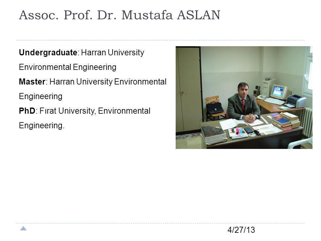 Assoc. Prof. Dr. Mustafa ASLAN