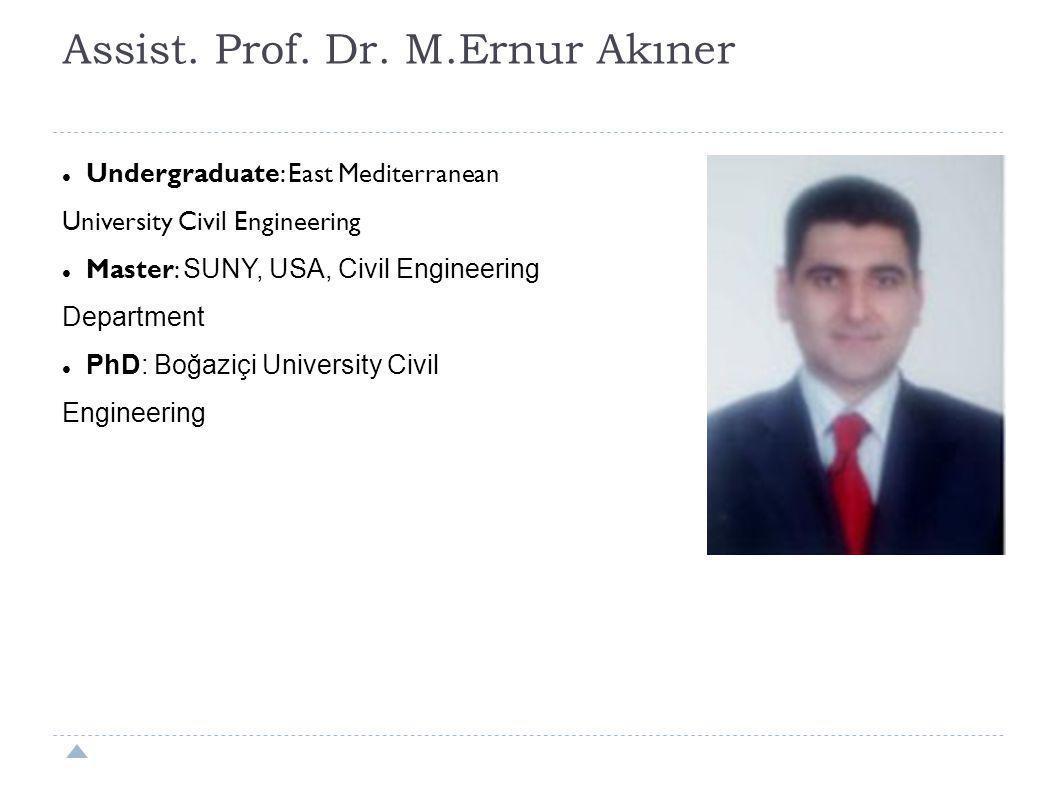Assist. Prof. Dr. M.Ernur Akıner