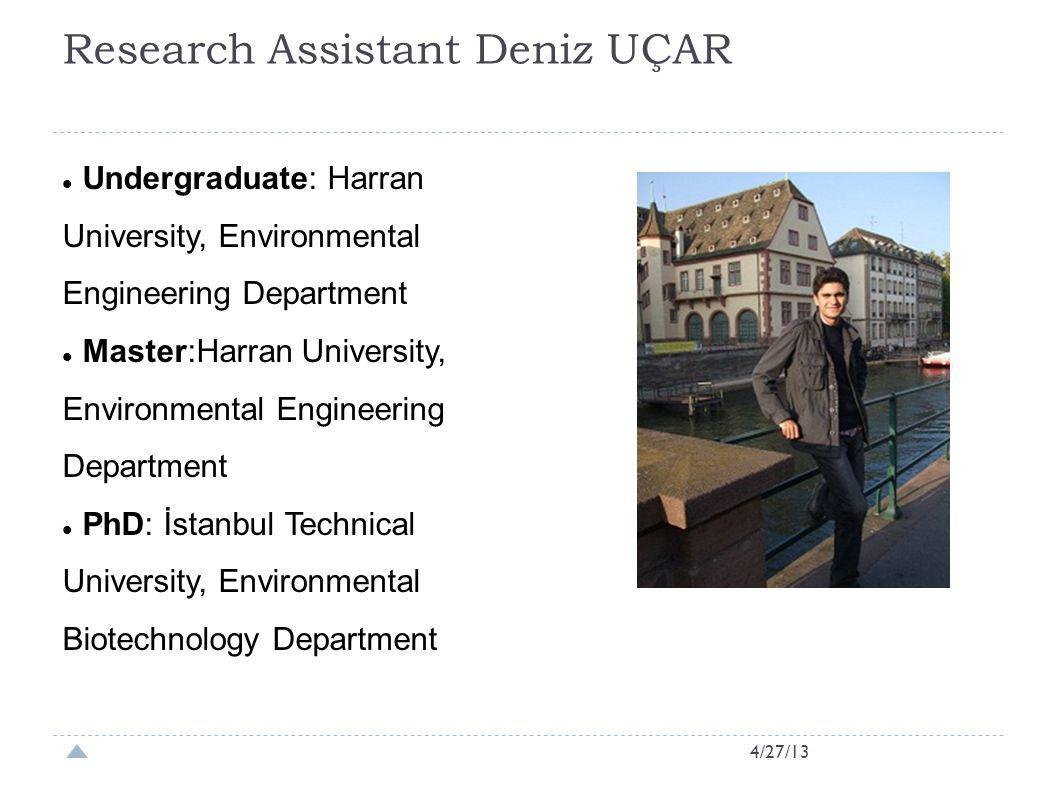 Research Assistant Deniz UÇAR