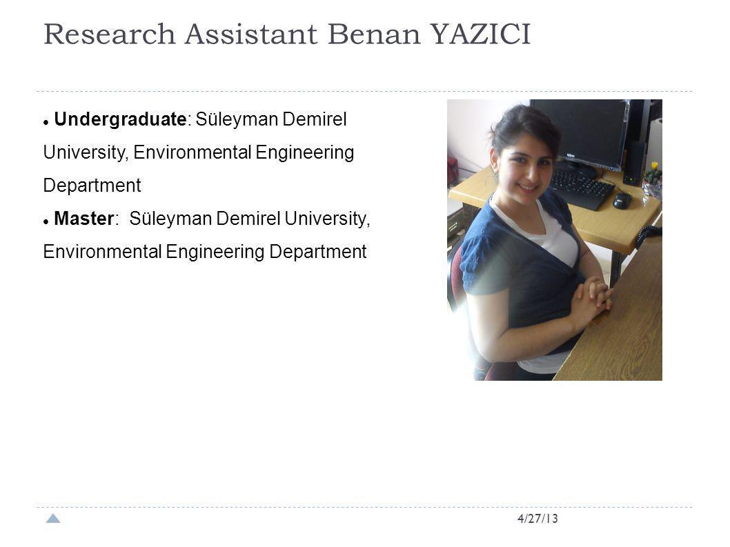 Research Assistant Benan YAZICI