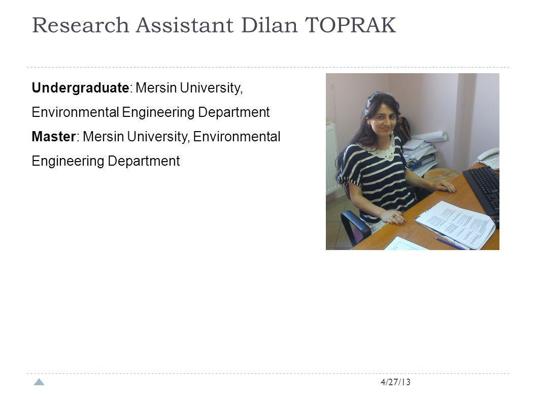 Research Assistant Dilan TOPRAK