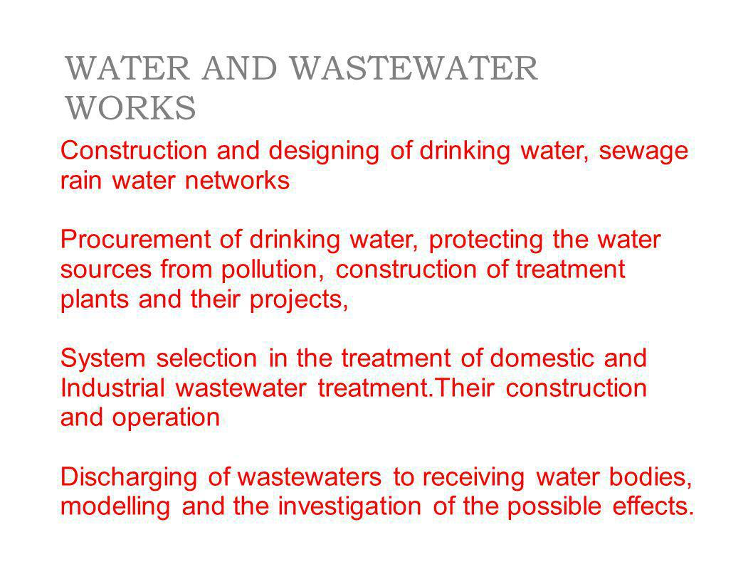 WATER AND WASTEWATER WORKS