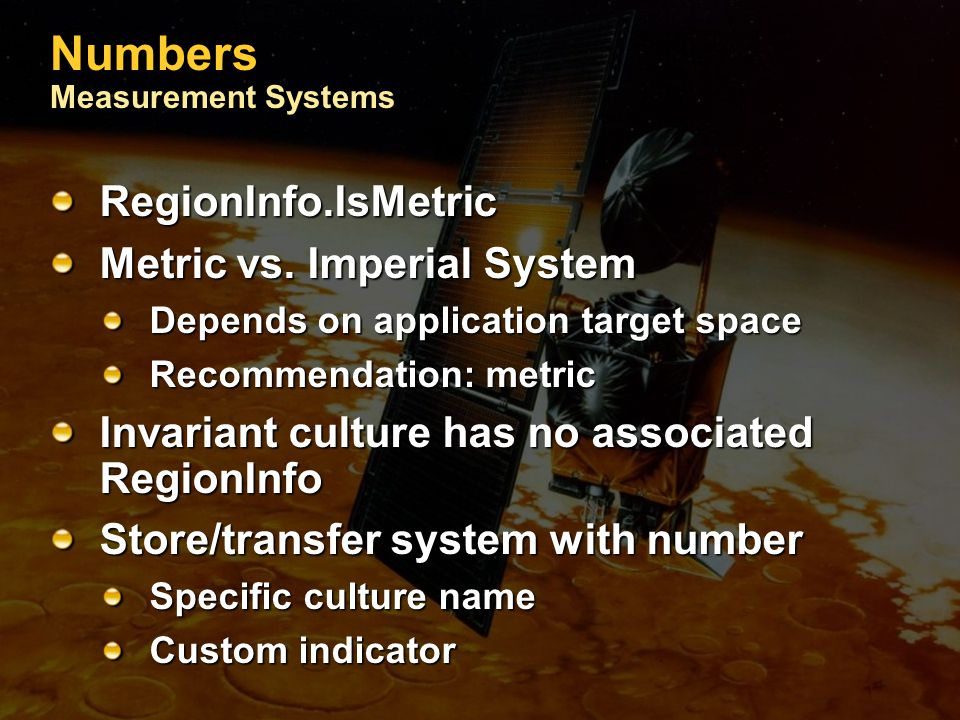 Numbers Measurement Systems