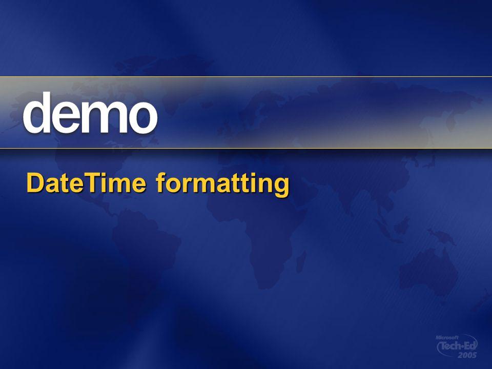 DateTime formatting