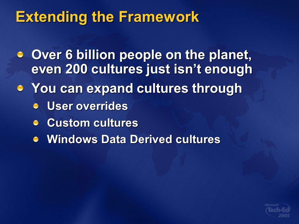 Extending the Framework