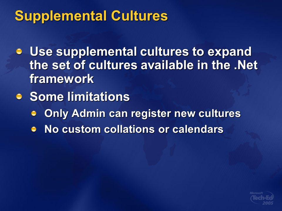 Supplemental Cultures