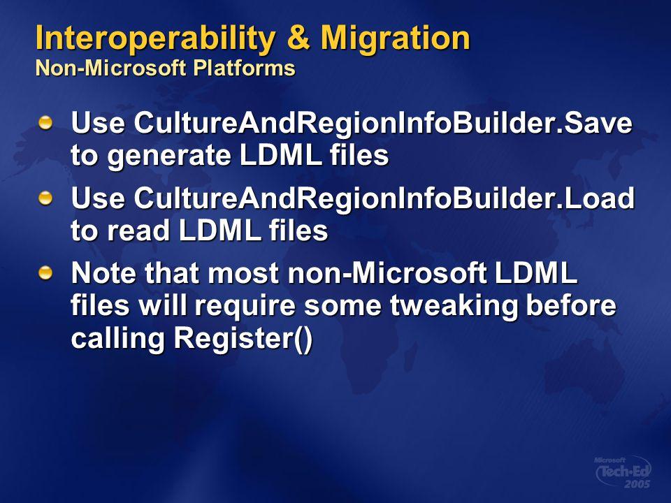 Interoperability & Migration Non-Microsoft Platforms