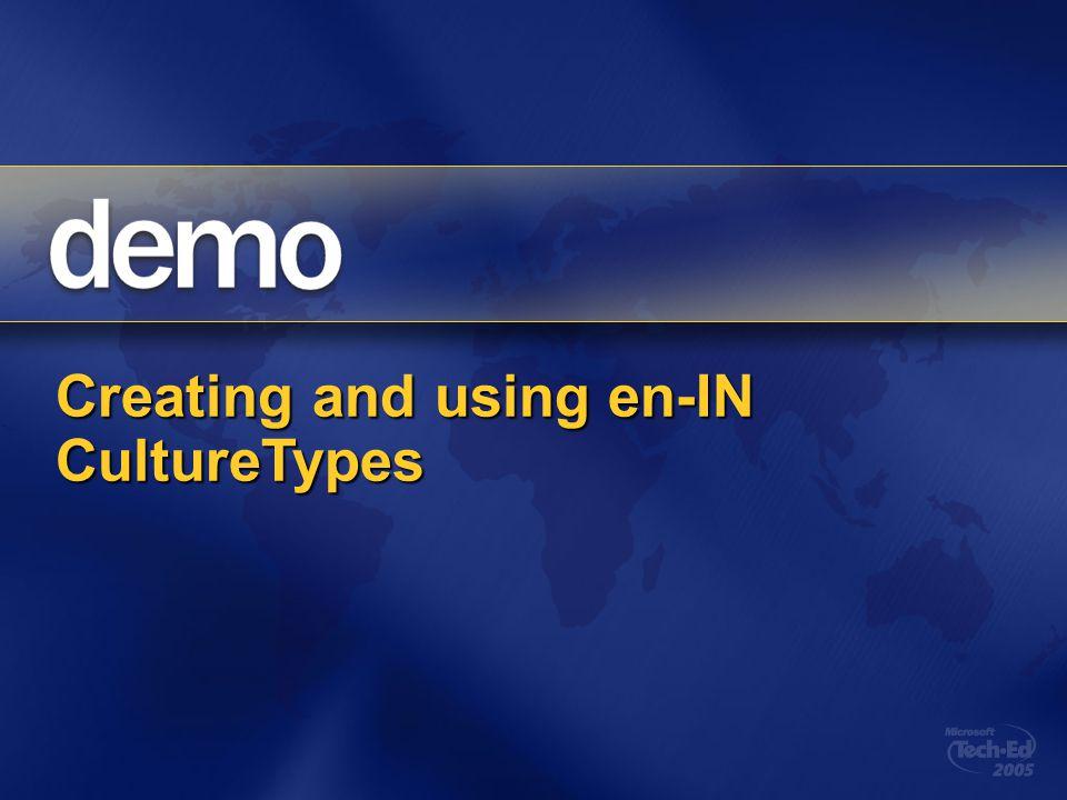 Creating and using en-IN