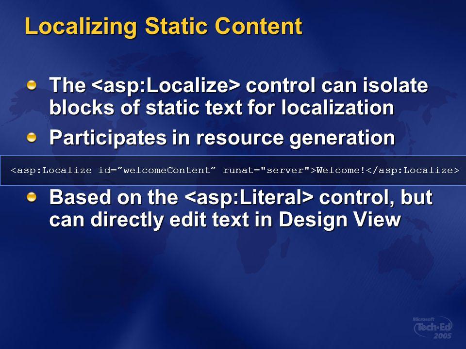 Localizing Static Content