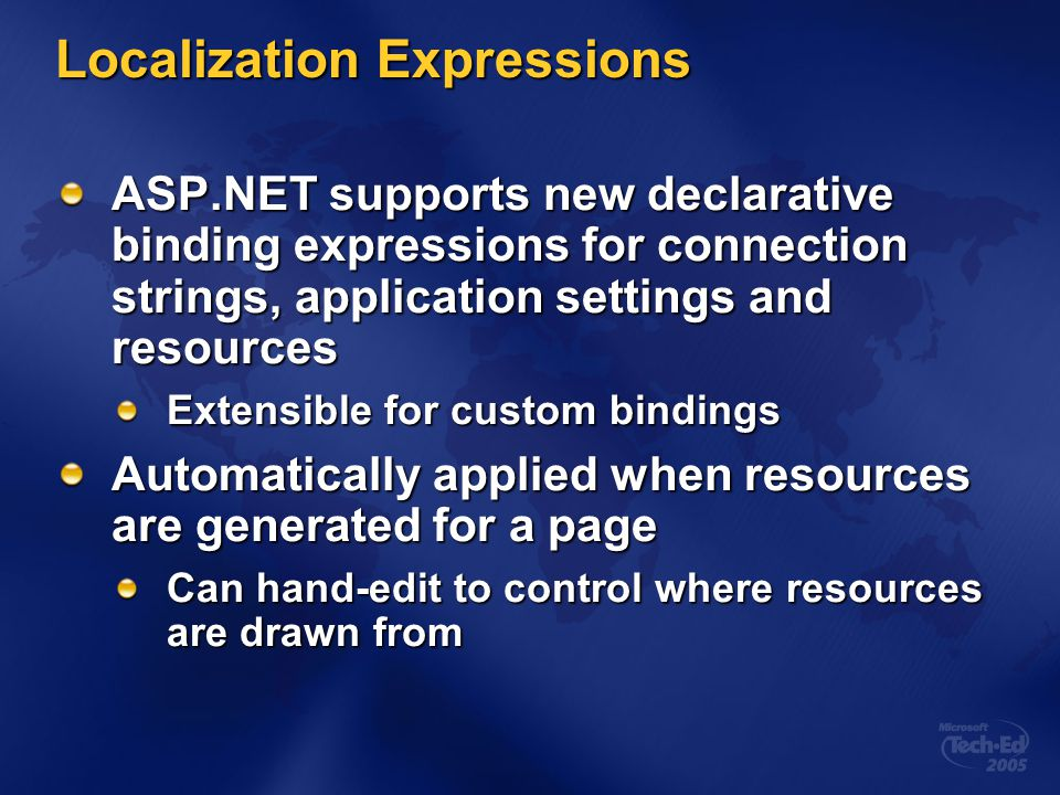 Localization Expressions